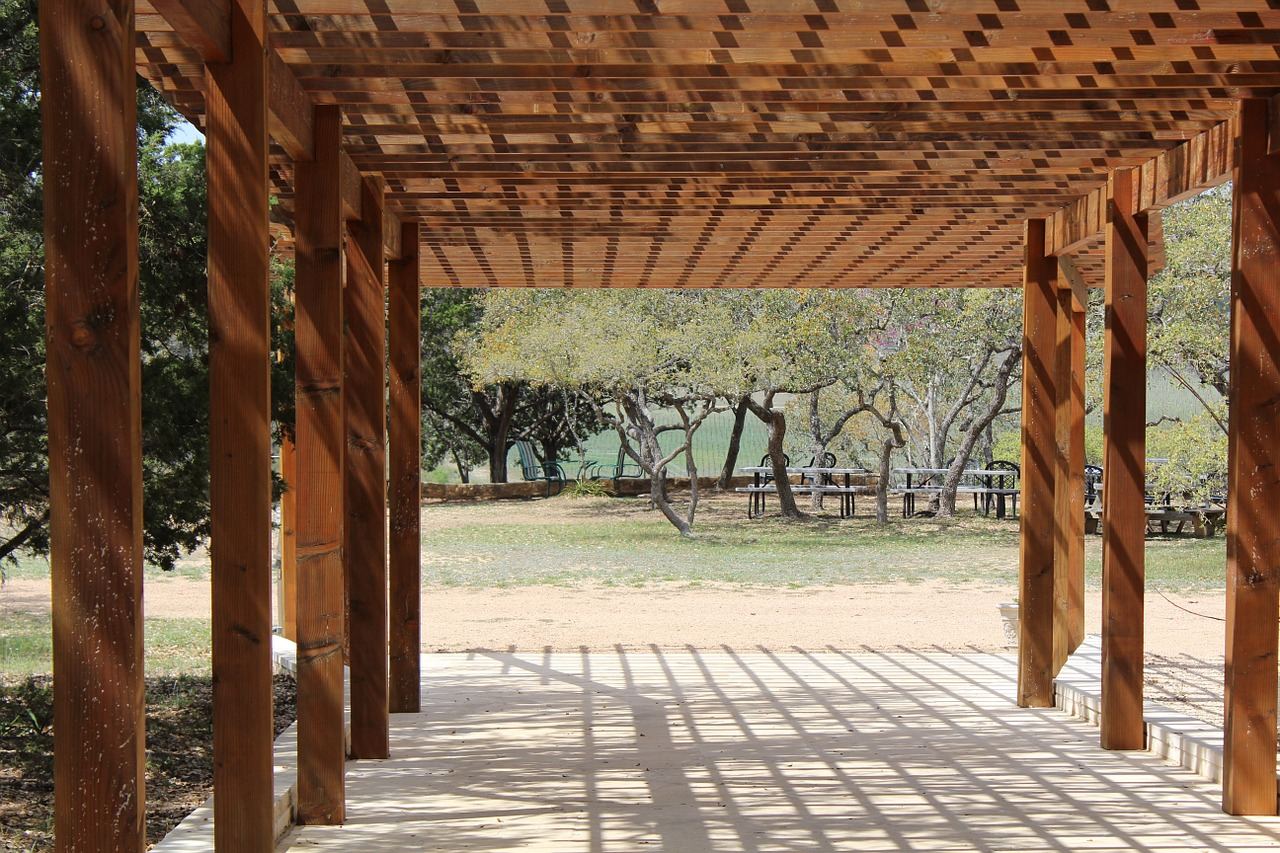 Pergola for Canisse pergola